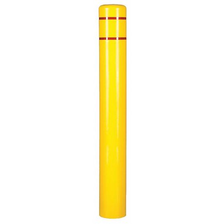 Post Sleeve,8 In Dia.,72 In H,Yellow