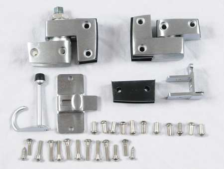 Global Partitions X Inswing Slide Latch Door Hardware - Bathroom partition hinges