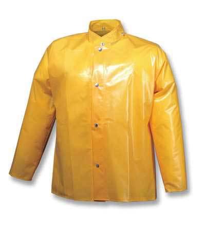 Tingley Rain Jacket with Hood Snaps, Gold, 3XL J22207 | Zoro.com