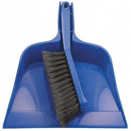 dust pan and brush set blue