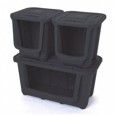 Merveilleux Storage Tote, Black, 15 5/8 In. H, 30 In