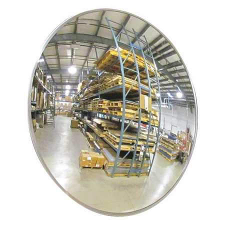 Indoor Convex Mirror, 18Dia, Polycarbonate