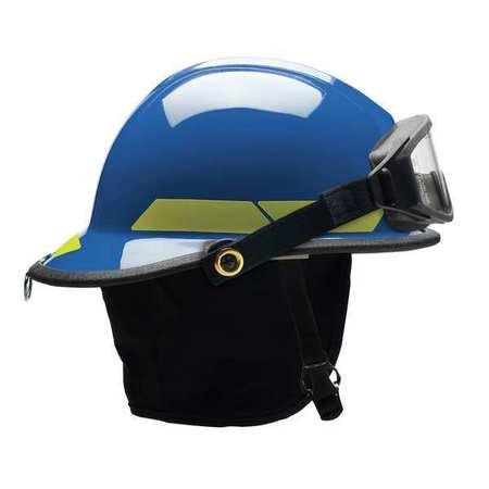 BULLARD LTXBL Fire Helmet,Blue,Modern