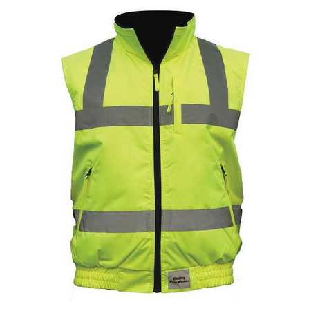 2XL Hi-Vis Full Zip Reversible Vest Gear Bag Tactical Clothes