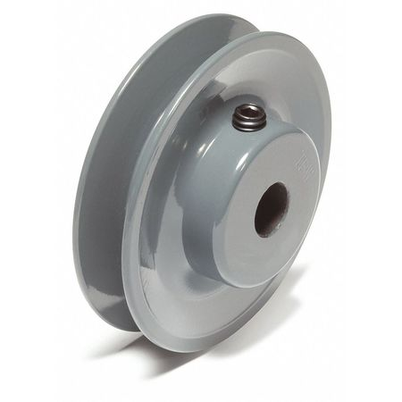 "1/2"" Fixed Bore 1 Groove V-Belt Pulley 3.95"" OD"
