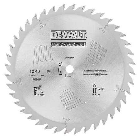 Dewalt circular saw bld crbde 10 in 40 teeth dw7657 zoro circular saw bld crbde 10 in 40 teeth keyboard keysfo Images