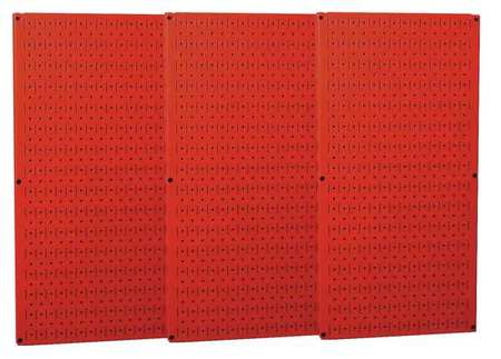 H,96 In W,Gray WALL CONTROL 35-P-3296GY Pegboard,Round,32 In