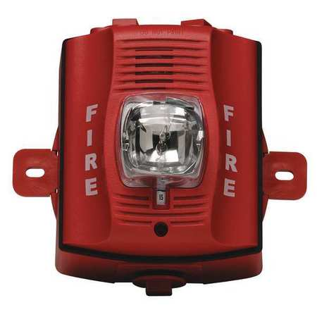 System Sensor Outdoor H S Wall 2 Wire Hi Candela Red