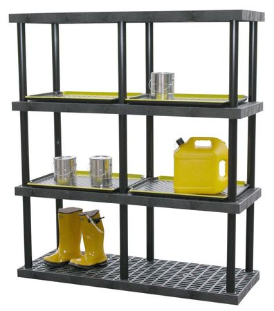 structural plastics plastic bulk shelving heavy duty w48 h75 s4824x4. Black Bedroom Furniture Sets. Home Design Ideas