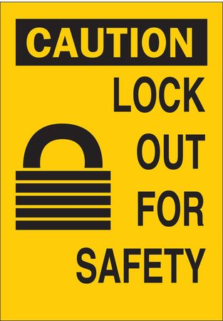 Caution Sign, 14 x 10In, BK/YEL, ENG, SURF