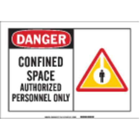 Danger Sign, 7 x 10In, R and BK/WHT, ENG