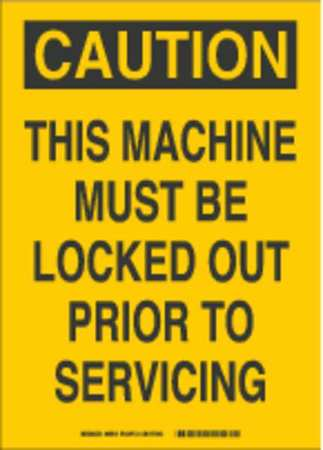 Caution Security Sign, 14 x 10In, BK/YEL