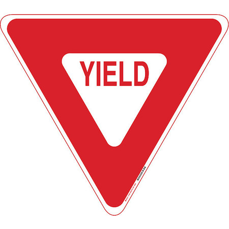 Traffic Sign, 30 x 30In, R/WHT, Yield, R1-2