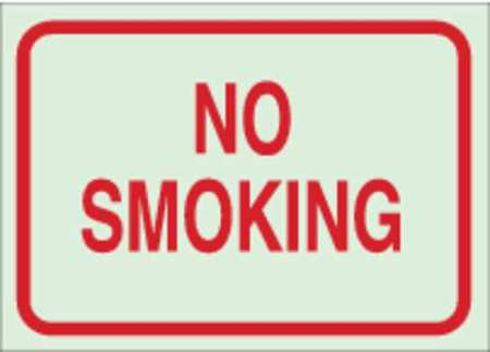 No Smoking Sign, 7 x 10In, R/GRN, ENG, Text