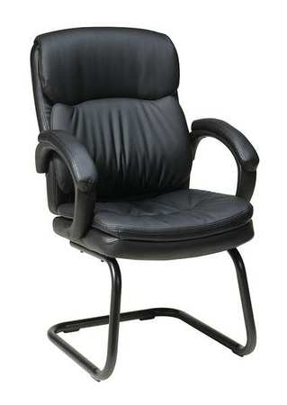 Work Smart Side Chair, Eco Leather, Black