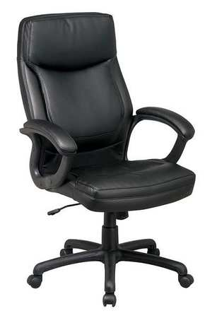Desk Chair Series Work Smart Eco Leather Black