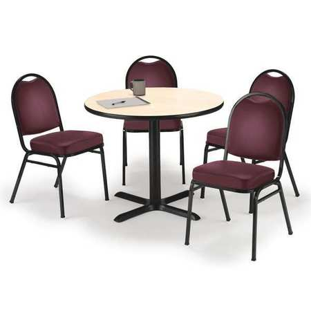 Kfi Breakroom Table And Chair Set Natural T36rd B2025bk Na Im520bk