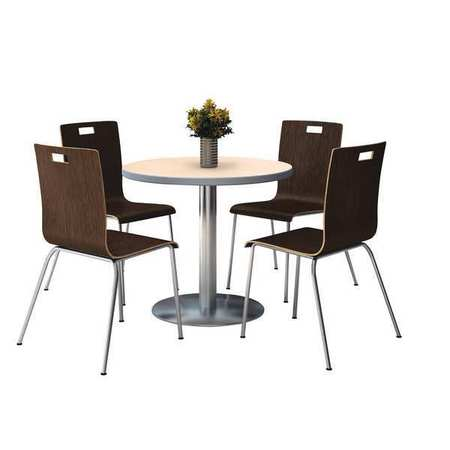 Kfi Breakroom Table And Chair Set Nat T42rd B1922sl Na 9222ch Es
