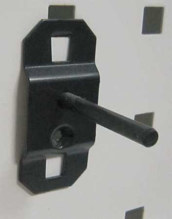 Single Rod Pegboard Hook, 1-1/2 In, PK5