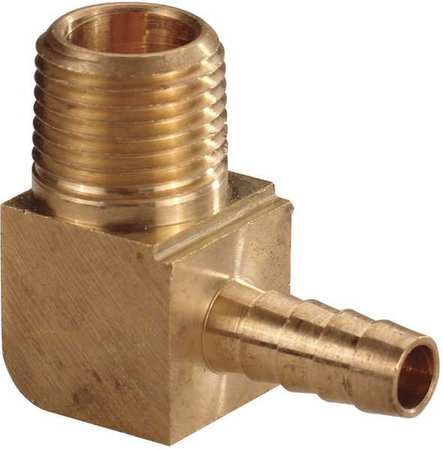 Hose Barb, 1/2 In Barb, 1/4 In MNPT, Brass