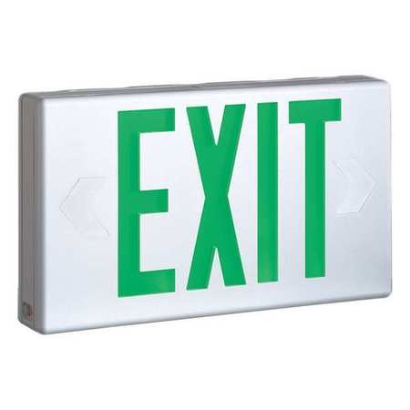 Cooper Lighting Plastic Led Exit Sign With Battery Backup
