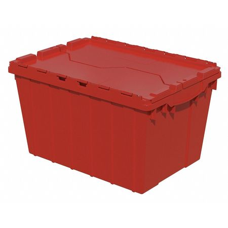 Attached Lid Container, 1.62 cu ft, Red