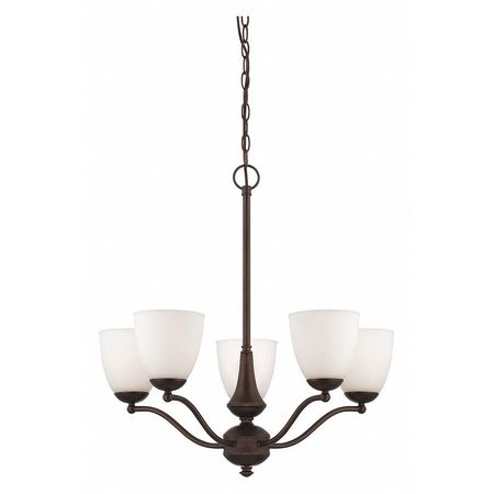 Patton 5 Light Chandelier Arms Up Frosted Gl Prairie Br