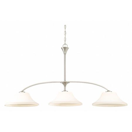 Fawn 3 Light Island Pendant Fixture Brushed Nickel Finish Br