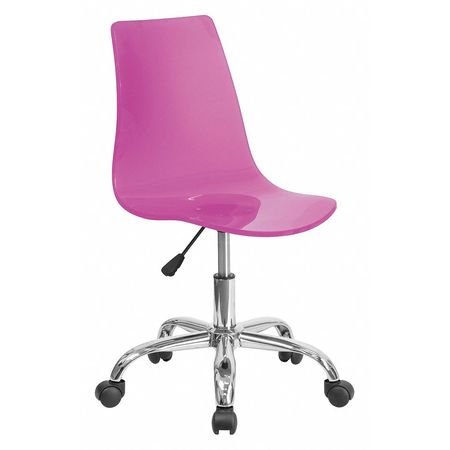 Superbe Clear Hot Pink Task Chair