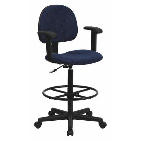 Charmant Emb Navy Fabric Draft Chair