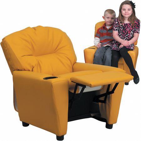 Yellow Vinyl Kids Recliner
