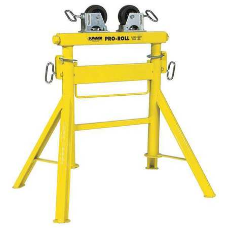 Sumner Roller Head Pipe Stand 1 2 To 36 In 780443 Zoro Com