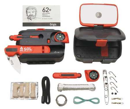 Portable Survival Tool Kit, Plastic Case Tools Equipment Plus Gifts
