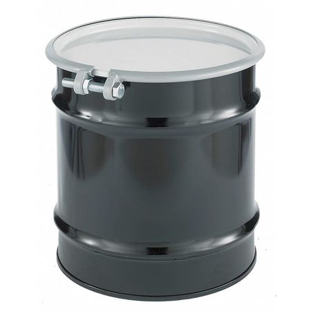Transport Drum, Open Head, 10 gal., Black
