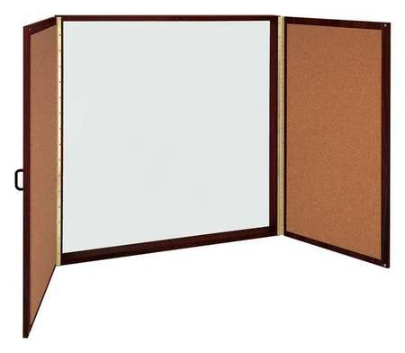 48 X Enclosed Dry Erase Board Cabinet Mahogany