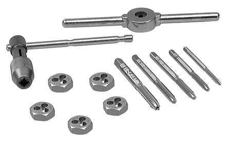 Tap and Die Set, 12 pc, High Carbon Steel