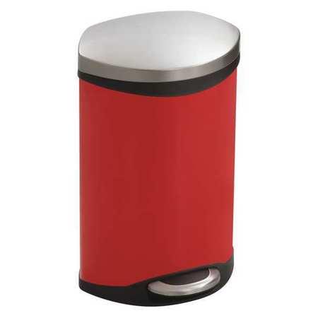 Safco 3 gal red steel oval wastebasket 9901rd - Rd wastebasket ...