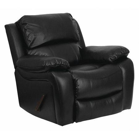 Flash Furniture Leather Rocker Recliner Black Men Da3439 91 Bk Gg Zoro