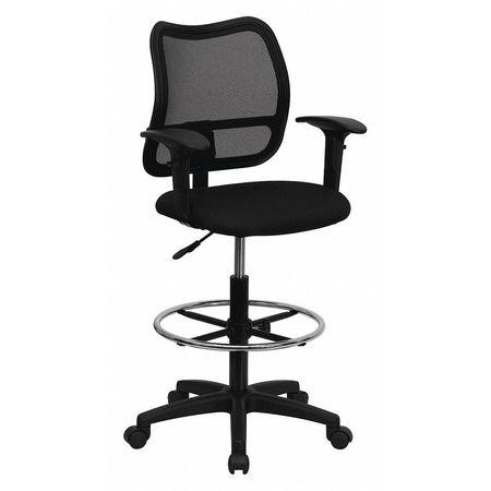 Incroyable Mesh Draft Chair W/Arms, Black