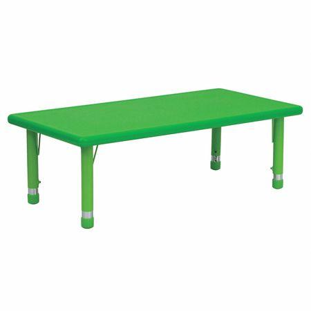 Preschool Activity Table, Rectangle, Green