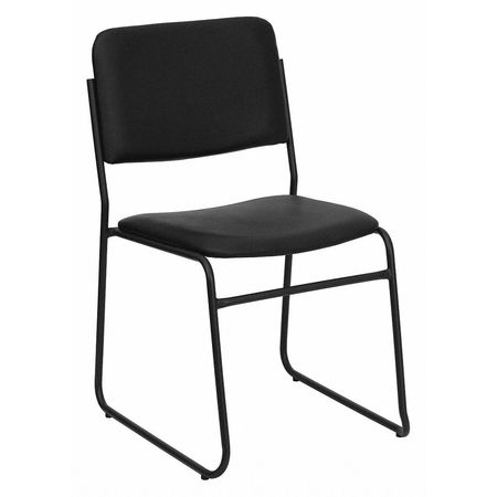 Link To Product Stack Chair,Sled Base,Black Vinyl