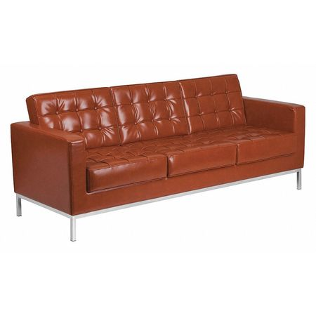 Cognac Leather Sofa, Lacey Series