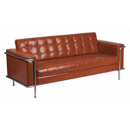 Cognac Leather Sofa, Lesley Series