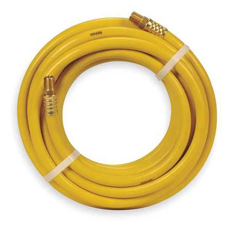 "1/4"" ID x 25 ft PVC Coupled Air Hose 300 PSI YL"