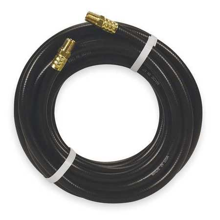 "3/8"" ID x 25 ft PVC Coupled Air Hose 300 PSI BK"