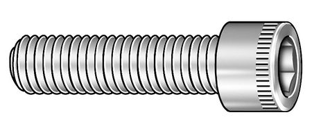 "1/4""-20 x 3/4"" Chrome Low Carbon Steel Socket Head Cap Screw,  5 pk."