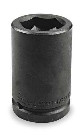 Impact Socket, 1 In Dr, 1-1/2 In, 6 pt