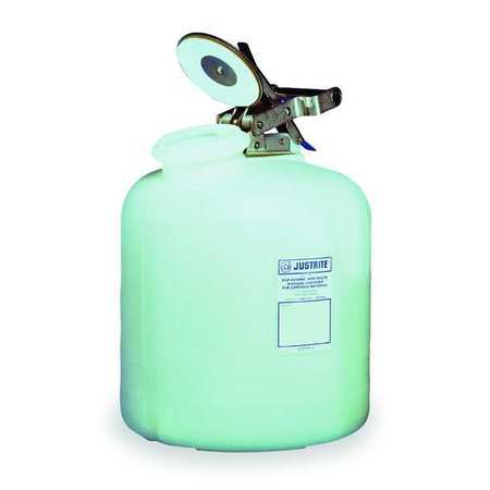 Disposal Can, 5 Gal., White, Polyethylene