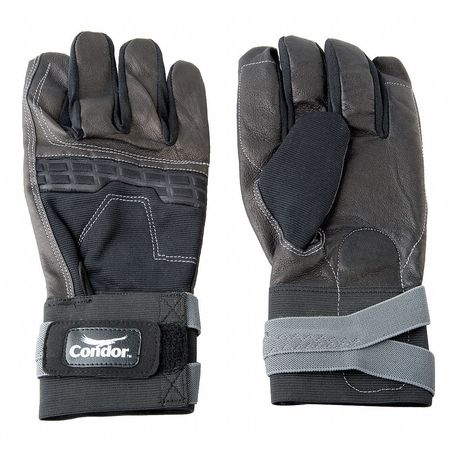 Anti-Vibration Gloves, XL, Black/Gray, PR