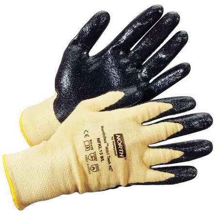 Coated Gloves, Yellow/Black, L, PR